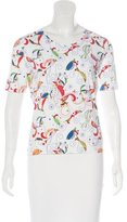 Salvatore Ferragamo Printed Short Sleeve Top