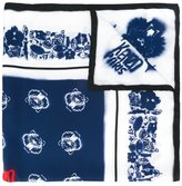 Kenzo spray paint effect multi logo scarf - men - Silk - One Size