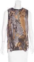 L'Agence Sleeveless Snake Patterned Blouse