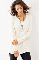 J. Jill Wearever Ottoman-Knit V-Neck Tunic