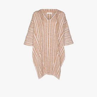 Chloé Cable Knit Hooded Poncho