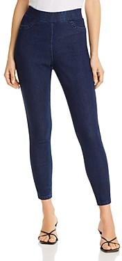 Hue Reversible High-Waisted Denim Leggings