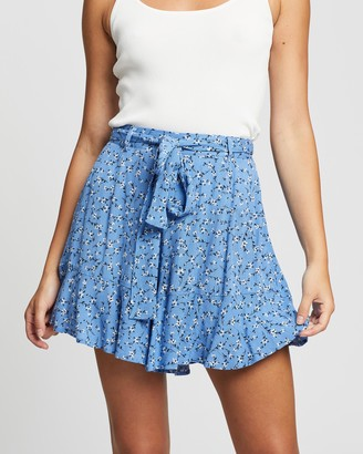 Atmos & Here Atmos&Here - Women's Blue High-Waisted - Alexa Ruffle Shorts - Size 6 at The Iconic