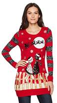 Blizzard Bay Women's L/s Crew Neck Tunic W/Sequin Cats and Light up Detail