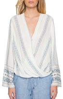 Willow & Clay Women's Wrap Front Blouse