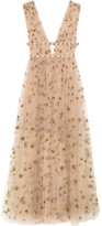 Valentino Sequin-embellished Tulle And Georgette Gown - Neutral