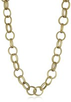 Gold-Tone Textured Chain Link Long Necklace