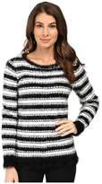 Calvin Klein Stripe Eyelash Crew Neck Sweater