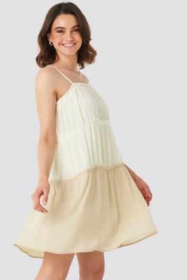 NA-KD Thin Strap Tiered Mini Dress Black