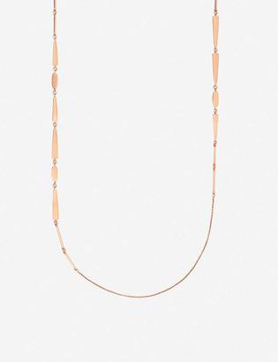 Kendra Scott Averil 14ct rose-gold plated brass long necklace