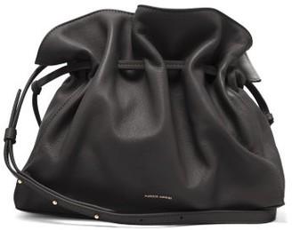 Mansur Gavriel Protea Drawstring Leather Bag - Black
