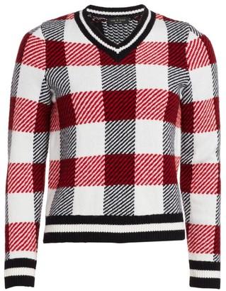 Rag & Bone Gabby Buffalo Check V-Neck Sweater