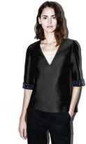 3.1 Phillip Lim Short-sleeve embroidered top