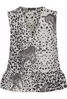 Markus Lupfer Leopard Print Silk Top