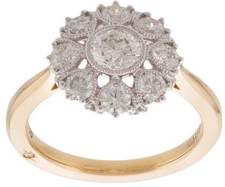 Marchesa 18kt yellow gold diamond floral band