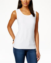 JM Collection Petite Jacquard Tank, Only at Macy's