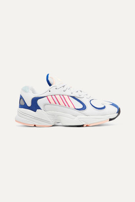 adidas Yung-1 Mesh And Nubuck Sneakers - Light gray