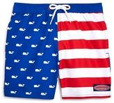 Vineyard Vines Boys' Whale Flag Swim Trunks - Big Kid