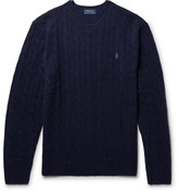 Polo Ralph Lauren Slim-Fit Cable-Knit Merino Wool and Cashmere-Blend Sweater