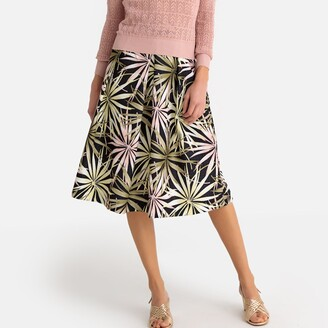 Anne Weyburn Floral Print Full Skirt