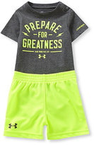 Under Armour 3-12 Months Prepare For Greatness Bodysuit & Shorts Set