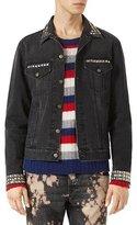 Gucci Denim Jacket w/Embroideries, Black Stone Wash
