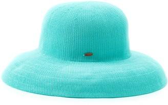 Scala Women's Knit Straw Big Brim Hat