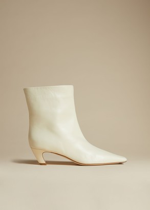 KHAITE The Arizona Boot in Ivory Leather