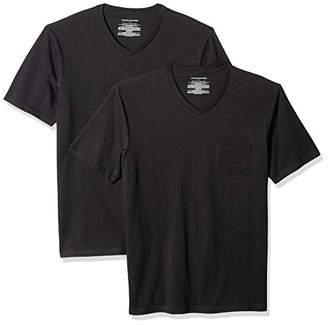 Amazon Essentials Men's 2-Pack Slim-Fit V-Neck Pocket T-Shirt