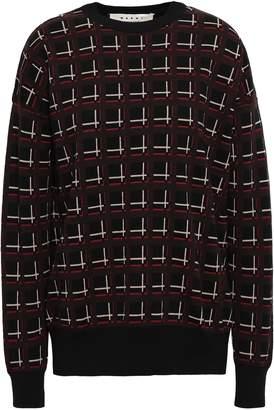 Marni Checked Wool-jacquard Sweater