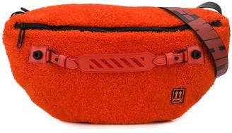 Off-White Shearling Crossbody Belt Bag