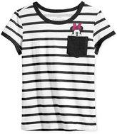 Hybrid Disney's Striped Minnie Mouse Pocket T-Shirt, Big Girls (7-16)