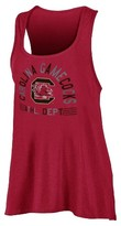 NCAA South Carolina Gamecocks Women's Scoop Neck Racerback Tunic Tank Top