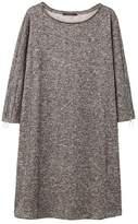 Violeta BY MANGO Metallic flecked dress