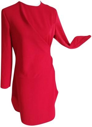 Carven Red Silk Dresses