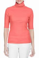 Lilla P Elbow Sleeve Turtleneck Sweater