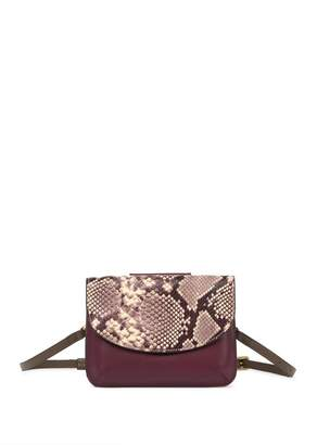 THACKER Crawford Snake Embossed Belt Bag