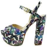 GUESS Womens Den 3 Peep Toe Ankle Strap Classic Pumps