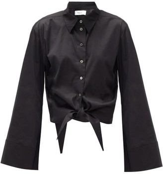 Racil Positano Cotton-blend Poplin Shirt - Black