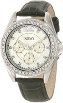 XOXO Women's XO3351 Rhinestones Accent Dark Green Strap Watch
