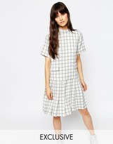 Asos Le Kilt for Funnel Neck Short Sleeve Pleat Dress