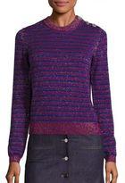 Carven Metallic Striped Sweater