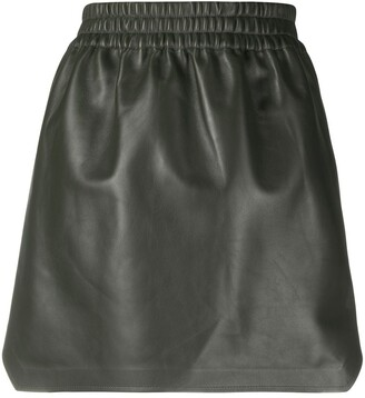Bottega Veneta High-Waisted Leather Skirt