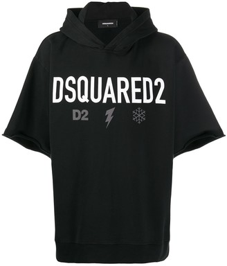 DSQUARED2 Logo Short-Sleeve Hoodie