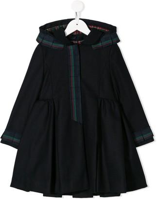 Lapin House Hooded Ribbon Trim Coat