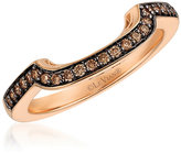 Le Vian 14ct Strawberry Gold Chocolate Diamond Band