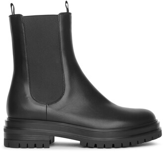 Gianvito Rossi Leather chelsea boots