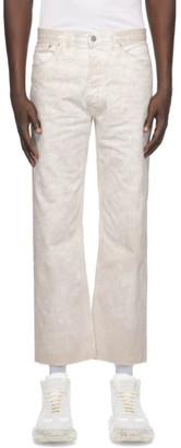 Maison Margiela White Denim Marble Wash Jeans