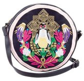 Mary Katrantzou Pochette Circle Pigeon Badge Bag