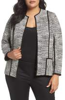 Foxcroft Plus Size Women's Devi Double Knit Collarless Jacket